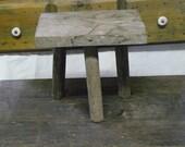 vintage 3 legged wooden stool