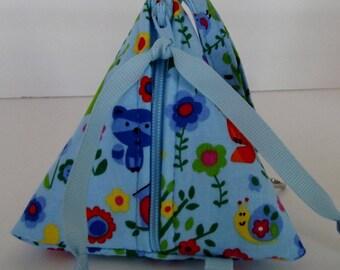 Dollbirdies Original Pacifier Pouch, Pacifier Case, Paci Pod, Triangle Pouch, Knitting Notions, Diaper Bag