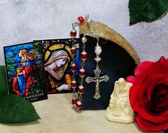The Alabaster Jar, One-Decade Catholic Rosary - Mary Magdalene Rosary - Unbreakable Rosary Chaplet