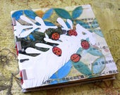 Handmade Mixed Media Sketchbook - Ladybird