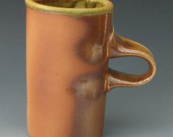 WOOD FIRED MUG #29 - Stoneware Mug - Wood Fired Coffed Mug - Ceramic Mug - Large Mug - Tea Mug - Wood Fired Pottery
