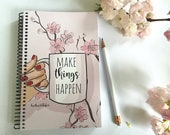 Make Things Happen - Gifts for Friends -  Gifts - Gratitude Journal - -Coffee ideas - Notebooks - Gifts for Women Teachers -