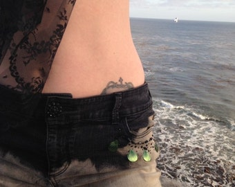 Inky Sea Shorts Size Small Low-rise Denim Shorts Mermaid Daisy Dukes
