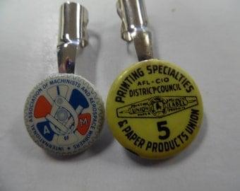 Vintage union pencil clips, vintage union pencil clips, old union pencil clips, printers union,