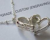 UPGRADE for Michelle - Interlocking Heart Necklace