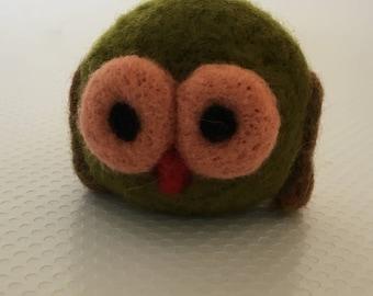 Owl Needlefelted Miniature