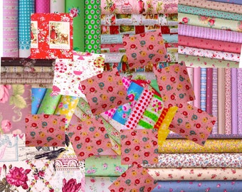 Quilts cotton Fabric  , 0.5 yard each  25 pieces