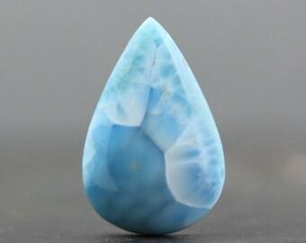 Larimar Gemstone Cabochon, Natural Sky Blue Stone (20283)
