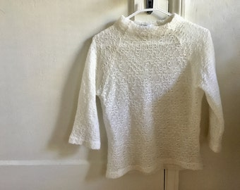 Mock Neck Knit Sweater S - M