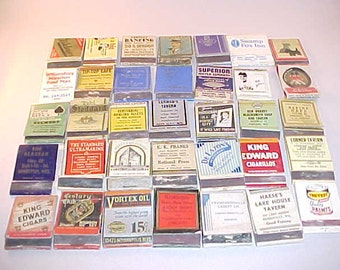 35 Matchbook Covers Advertising Collectibles