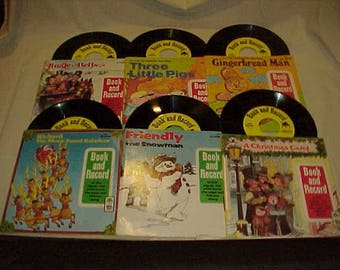 6 Peter Pan Records Book and Record Sets