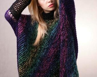 Multicolor Plus size  Sweater sequins Multicolor Oversize Sweater Full Figure Sweater Curvy sweater Cardigan
