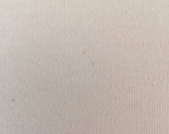 Bamboo and Organic Cotton Interlock Knit Fabric - Natural Color - Made in the USA