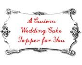 Custom Fox Wedding Cake Topper