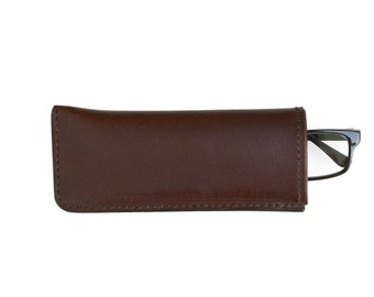 Glasses Cover // Leather glasses case // Glasses protective sleeve
