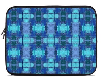 Blue laptop case, blue laptop sleeve, laptop cover, to fit 10, 13, 15, 17 inch