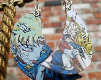 Sailor Moon Usagi - hand-painted anime inspired earrings