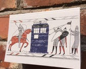 Tardis Bayeux Tapestry Doctor Who A6 Notepad
