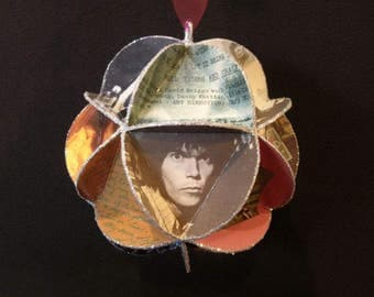 Neil Young Ornament Made Of Album Covers - Repurposed Record Jackets