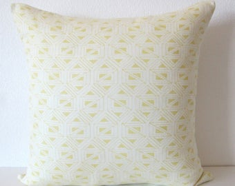 Nate Berkus Birnbeck Citrine triangle geometric abstract designer decorative pillow cover