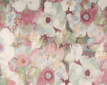 Whimsical Pink Romantic Floral Pillow Cover