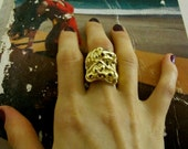 BLACK FRIDAY SALE Our Best-Seller - The Amazing  Donatella Gothic Ring in silver, gold and hematite plating