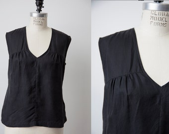 Vintage Black SILK 90s Tommy Hilfiger Tank Top Camisole XS-S
