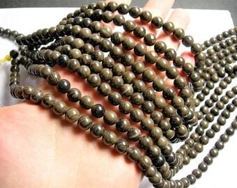 Coffee Jasper - 8mm( 8.4mm)  round beads -1 full strand - 46 beads - RFG757