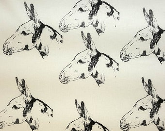 Donkey Fabric ALL Cotton Hot Diggity Dog™ Many Colors Novelty Fabric 1 yd