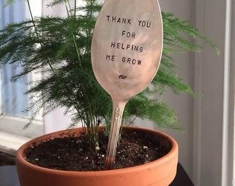 Garden Plant Marker - Vintage Spoon Garden Stake - Plant Marker - Garden Plant - Garden Saying - Spoon Plant Stake