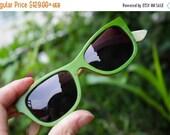 20% OFF Sale - large size  apple green WALKER2012 skateboard wood TAKEMOTO handmade sunglasses