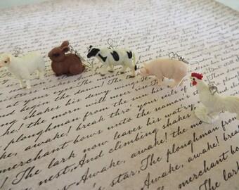 Rubber Farm Animals Earrings