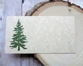 Reserved - pine tree place cards