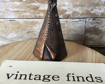 Vintage Teepee Brass Bank