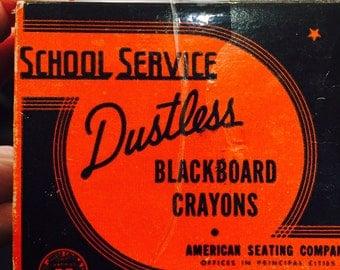 Dustless Blackboard Crayons, White Chalk, Original Box