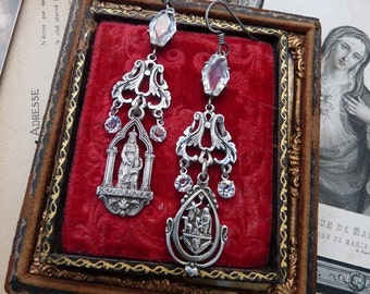 Antique French Saint Anne Earrings, by RusticGypsyCreations