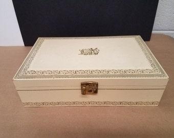 Vintage Ivory Jewelry/Music Box