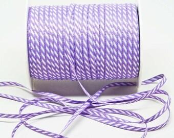 Solid Diagonal Stripe Ribbon -- 1/8 inch -- lilac
