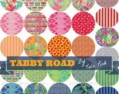 complete fat quarter bundle of Tabby Road fabric collection by Tula Pink for Free Spirit fabrics - 26 pieces