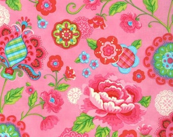Gypsy Girl Lily Ashbury Gypsy Bloom candy floss pink moda fabrics FQ or more