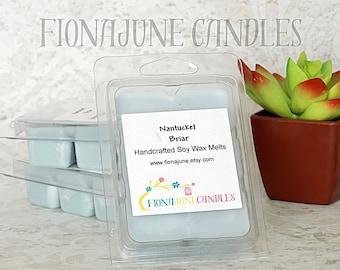 Handmade Nantucket Briar Soy Wax Melts, Blue Clamshell Wax Melts, Flameless home Fragrance, Soy Clamshell Wax Melts