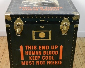 Old Red Cross Container for Transporting Human Blood