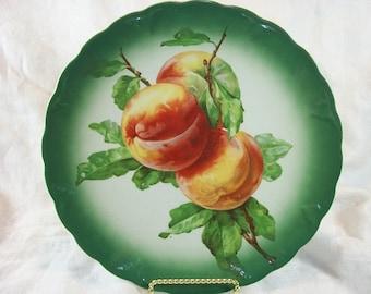 Vintage Petrus Regout Holland Peaches Plate
