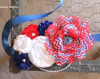 4th of July Maternity Sash, Maternity Sash, Patriotic Maternity Sash, 4th of July Maternity Sash, Red White Blue Sash, Pregnancy Sash