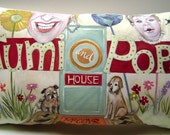 """Custom Order: """"Tumi and Pop's House"""" Personalized Pillow"""