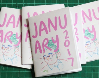 January 2017 Art Zine Sketchbook