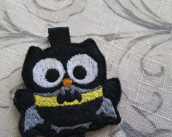 Extra Large Batman Owl Hair Clip / Non Slip Hair Clip / Ready To Ship
