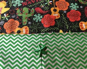Table Runner - House Warming Gift - Handmade - Feliz Navidad Table Runner -Gift for Mom  * Second Anniversary Gift * Gift for Grandma