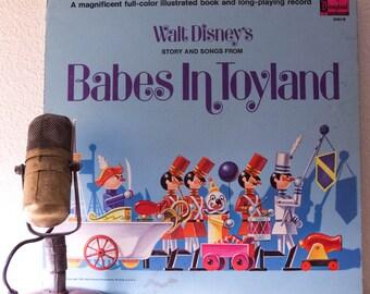 "Walt Disney ""Story and Songs from Babes in Toyland"" Children's Vintage Vinyl Record Album (Original 1961 Disneyland)"