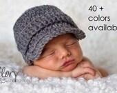 Newsboy Hat, Baby Boy Hat, Newborn Hat, Baby Hat, Infant Hat, Crochet Hat, Photo Props, Baby Boy, Coming Home Outfit, Newborn Boy, Baby Gift